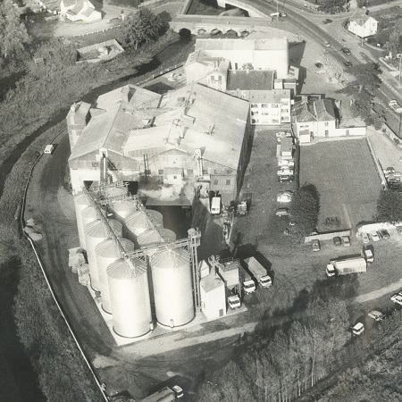 Aerial view of the mill