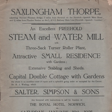 Saxlingham Thorpe Steam and Water Mill