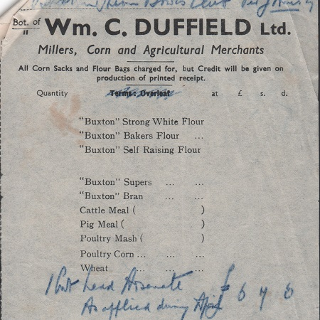 W M C Duffield bill